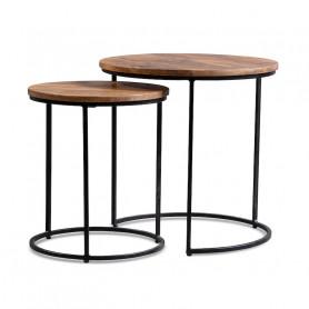 Кофейный столик лофт Столики из массива, набор ИНДУ ГУЛАБИ