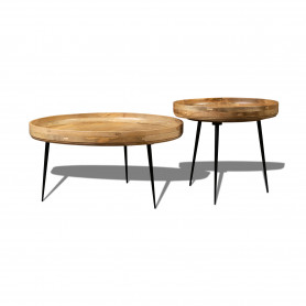 Кофейный столик лофт Набор столиков из массива