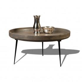 Кофейный столик лофт Столик из массива манго, ДАУЛАТА ПЛАТИНУМ