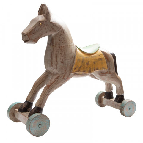Деревянный декор, лошадка ЧИТРАВИЧИТРА большая Мятный