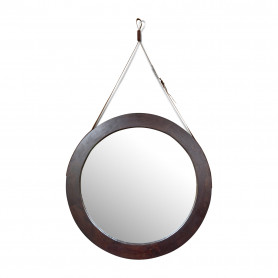 Зеркало в деревянной раме лофт КЕЯ АХРО