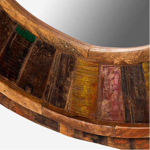 Деревянное зеркало лофт, МАНИША