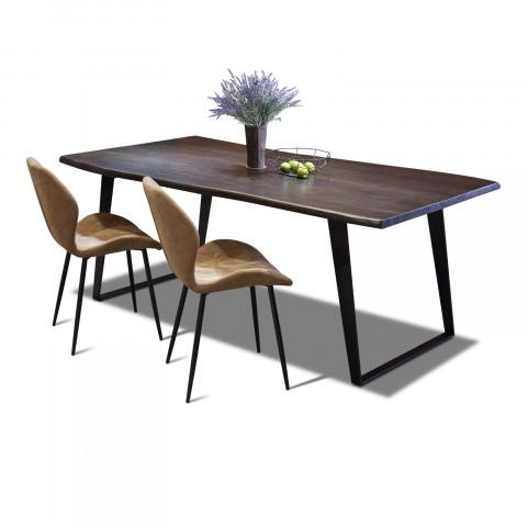 Стол лофт из массива, LIFE sigar black, 2 метра